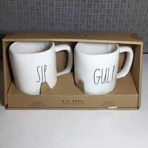 Rae Dunn Sip and Gulp Mugs Boxed Gift Set